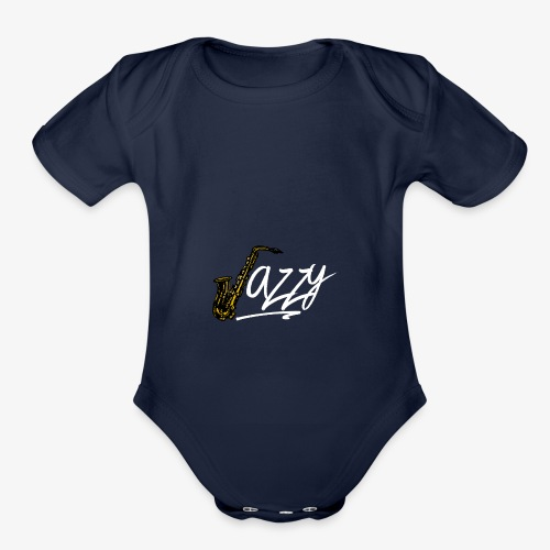 JazzyShirt-WhiteEdition - Organic Short Sleeve Baby Bodysuit