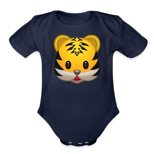 cute tiger - Organic Short Sleeve Baby Bodysuit