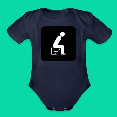 On The Toilet - Organic Short Sleeve Baby Bodysuit