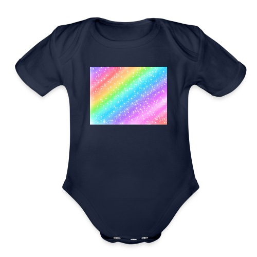 Rainbow - Organic Short Sleeve Baby Bodysuit