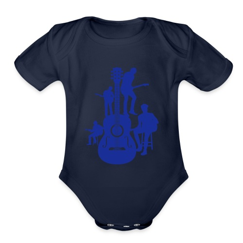 Musical5 - Organic Short Sleeve Baby Bodysuit