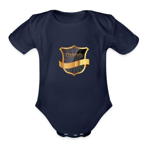 Premium - Organic Short Sleeve Baby Bodysuit