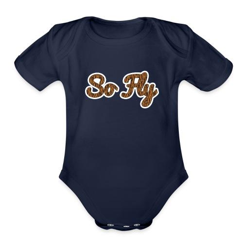 So Fly Tiger - Organic Short Sleeve Baby Bodysuit