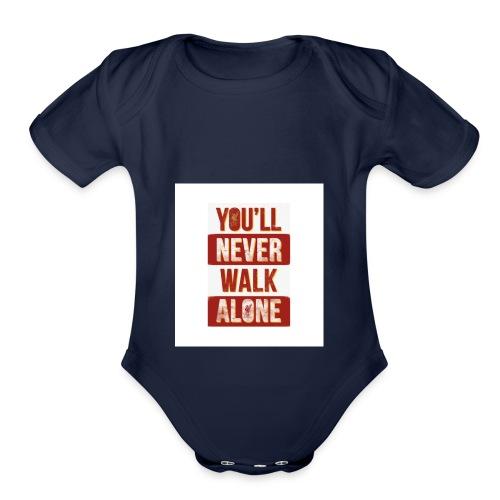 liverpool fc ynwa - Organic Short Sleeve Baby Bodysuit