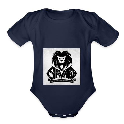 king savage - Organic Short Sleeve Baby Bodysuit