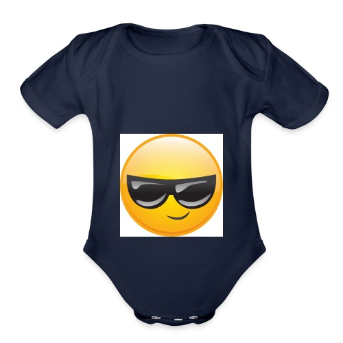 Cool Face - Organic Short Sleeve Baby Bodysuit