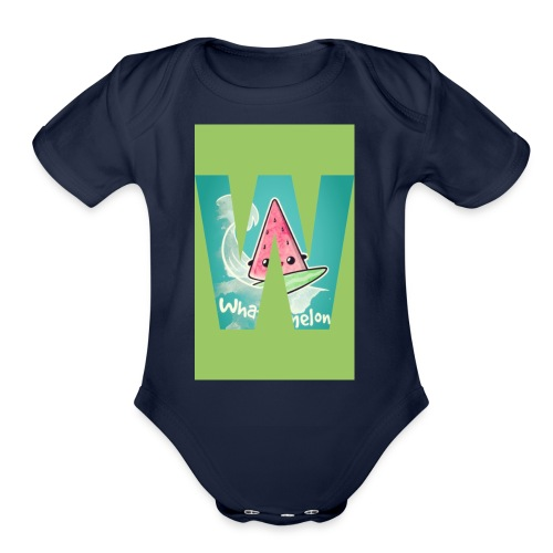 Surfing meloan - Organic Short Sleeve Baby Bodysuit