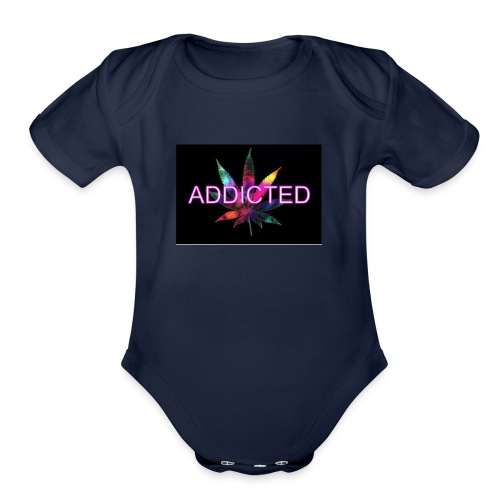 addicted - Organic Short Sleeve Baby Bodysuit