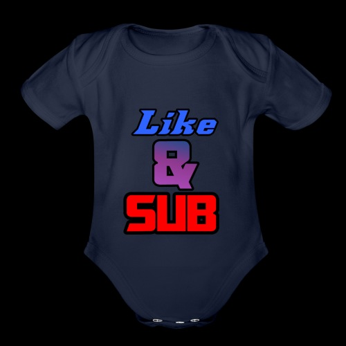 Like & Sub - Organic Short Sleeve Baby Bodysuit
