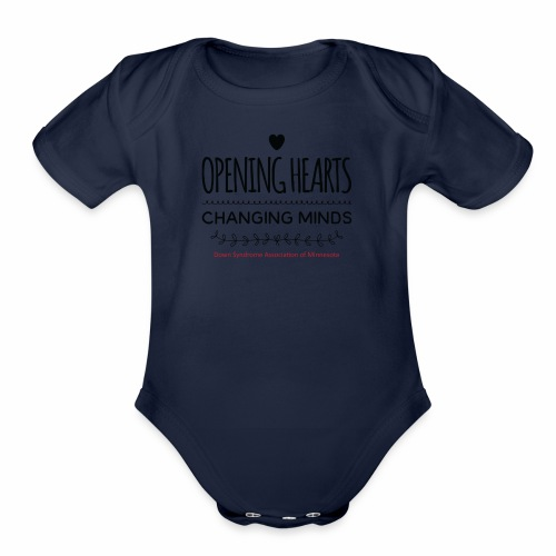 Opening Hearts Changing Minds - Organic Short Sleeve Baby Bodysuit