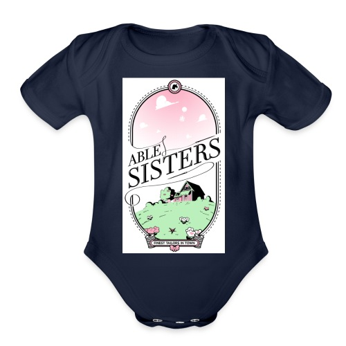The Able Sisters - Organic Short Sleeve Baby Bodysuit