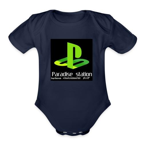 Paradise green - Organic Short Sleeve Baby Bodysuit
