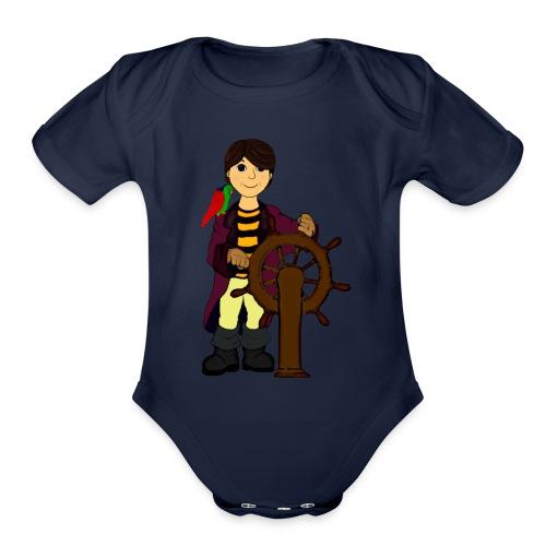 Alex the Great - Pirate - Organic Short Sleeve Baby Bodysuit