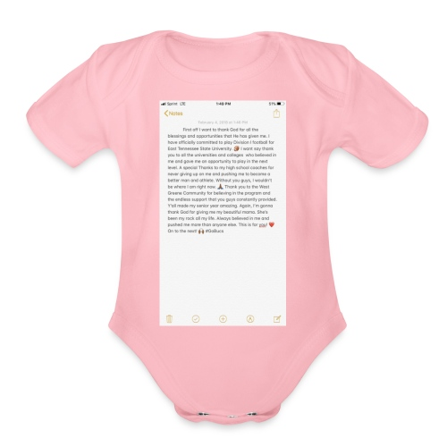 Text from a Football Commit - Organic Short Sleeve Baby Bodysuit