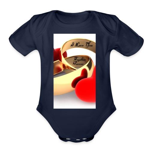 Forever Love - Organic Short Sleeve Baby Bodysuit