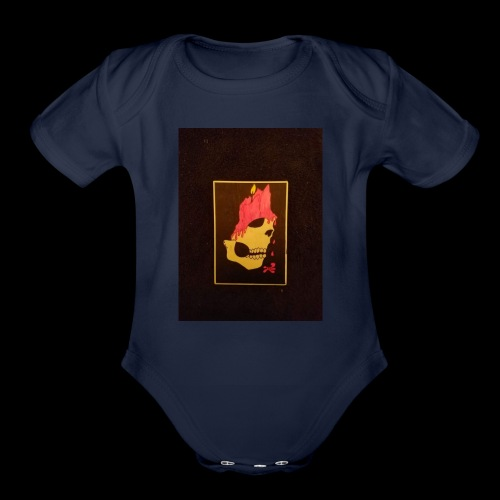 Dripping Skull - Organic Short Sleeve Baby Bodysuit