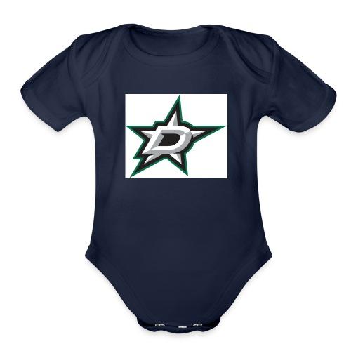 Counting Stars - Organic Short Sleeve Baby Bodysuit