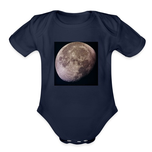 Moon - Organic Short Sleeve Baby Bodysuit