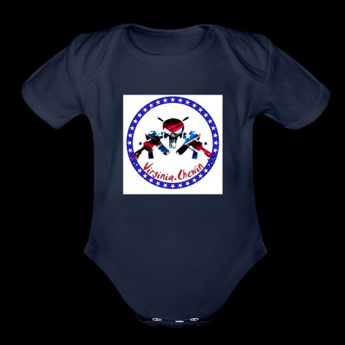 Virginia chewin' logo - Organic Short Sleeve Baby Bodysuit