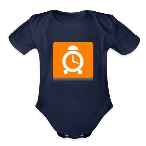 time for life love fun - Organic Short Sleeve Baby Bodysuit