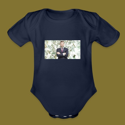 business - Organic Short Sleeve Baby Bodysuit