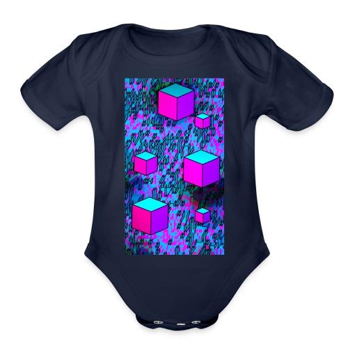 Rain Bows - Organic Short Sleeve Baby Bodysuit