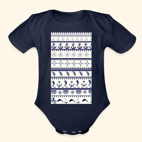 Sea - Organic Short Sleeve Baby Bodysuit