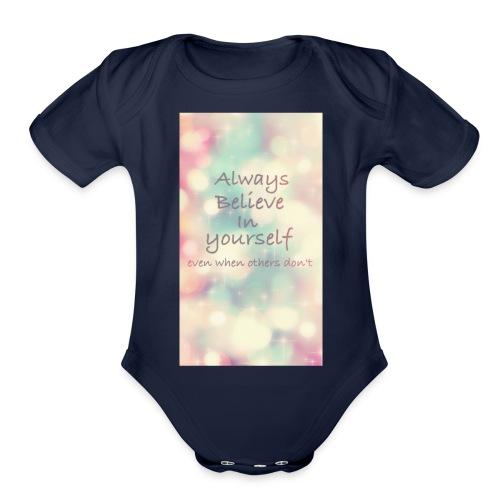 No words - Organic Short Sleeve Baby Bodysuit