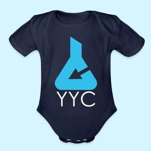 Media Lab Logo (white text) - Organic Short Sleeve Baby Bodysuit