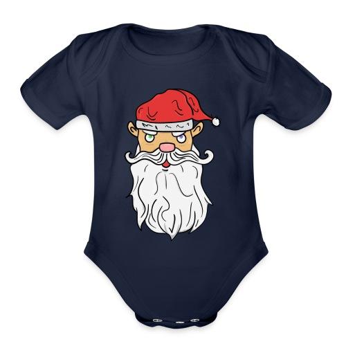 Bad Santa! - Organic Short Sleeve Baby Bodysuit