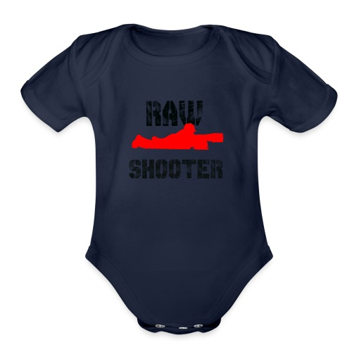 Raw Shooter - Organic Short Sleeve Baby Bodysuit