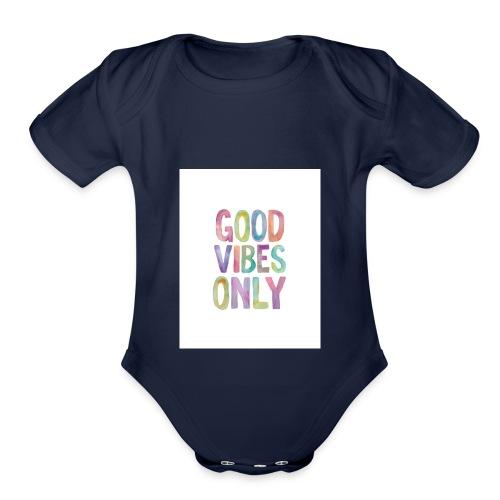 good vibes - Organic Short Sleeve Baby Bodysuit