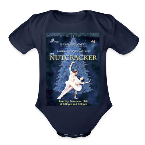 CBC Nutcracker Product - Organic Short Sleeve Baby Bodysuit