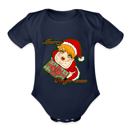 Merry Ginge-Mas - Organic Short Sleeve Baby Bodysuit