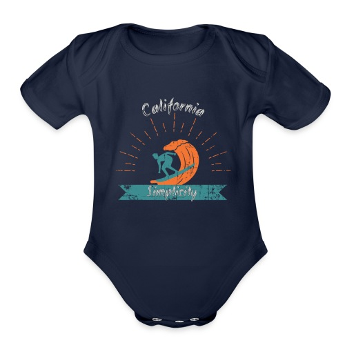 California Simplicity - Organic Short Sleeve Baby Bodysuit