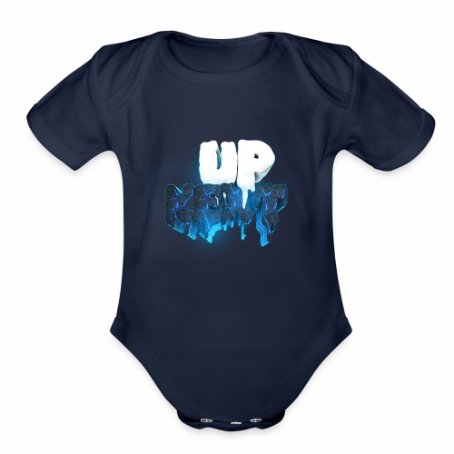 Font Blue - Organic Short Sleeve Baby Bodysuit