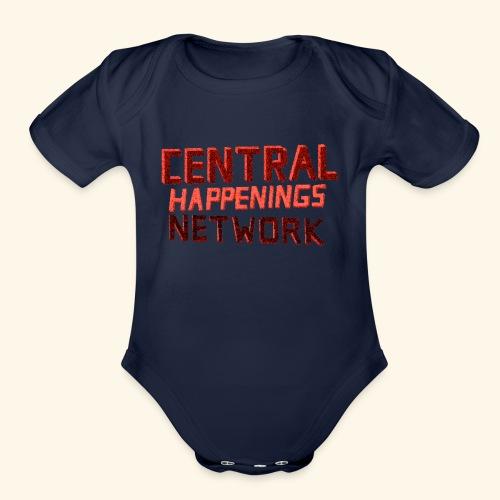CHN Text FULL - Organic Short Sleeve Baby Bodysuit
