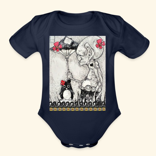 Peace with Halloween - Organic Short Sleeve Baby Bodysuit