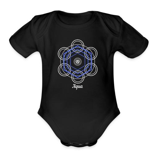 Aqua Water Element Alchemy Design - Organic Short Sleeve Baby Bodysuit