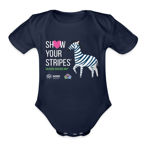 Show Your Stripes for Rare Disease Day! - Organic Short Sleeve Baby Bodysuit
