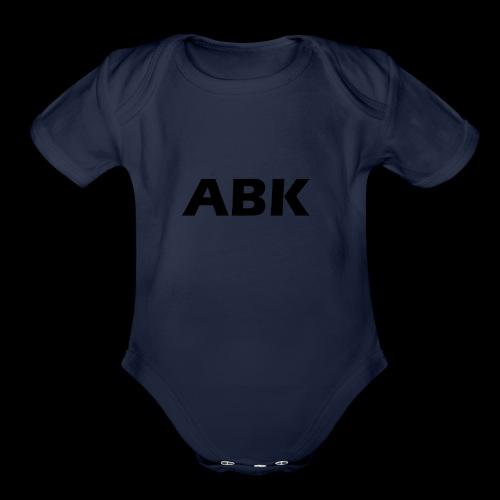 ABK Black - Organic Short Sleeve Baby Bodysuit