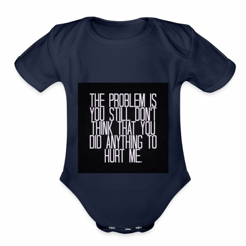 Its a Sad Quote - Organic Short Sleeve Baby Bodysuit