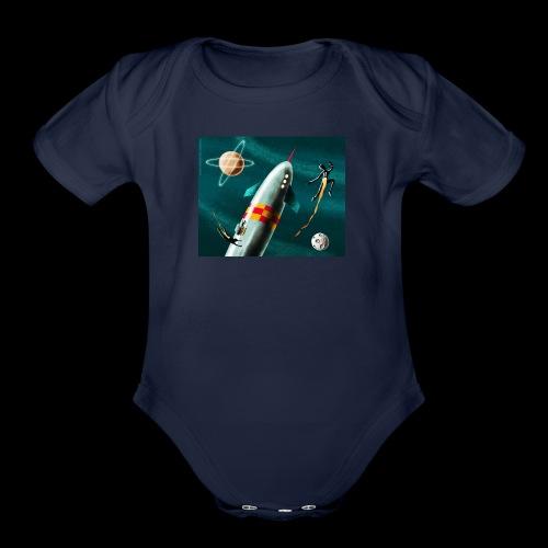 Rockets and Jetpacks - Organic Short Sleeve Baby Bodysuit