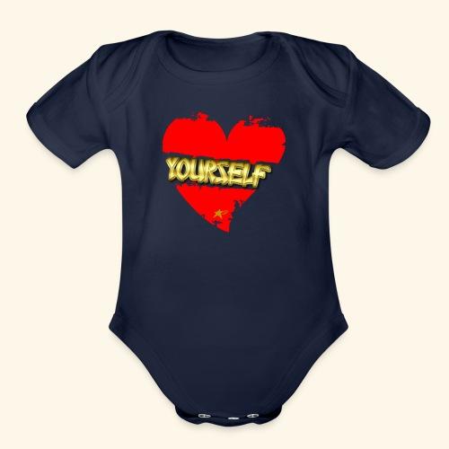 Love Yourself T-shirt - Organic Short Sleeve Baby Bodysuit