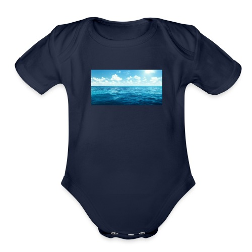 OCEANS - Organic Short Sleeve Baby Bodysuit