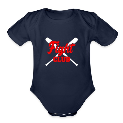 Red Tee Joe Kelly logo - Organic Short Sleeve Baby Bodysuit