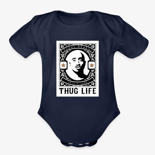 THUG LIFE - Organic Short Sleeve Baby Bodysuit