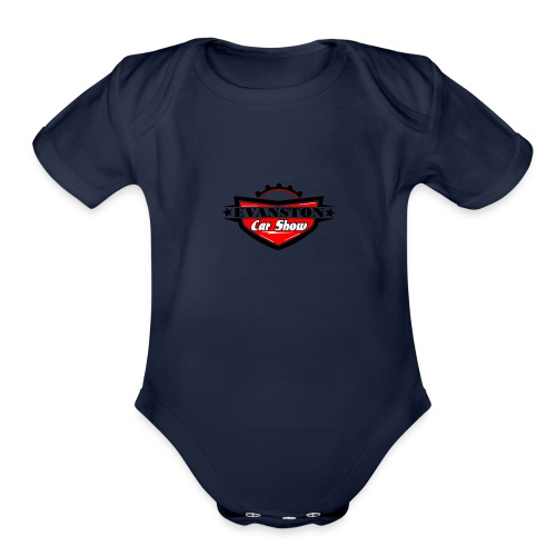 EvanstonCarShowLogo copy - Organic Short Sleeve Baby Bodysuit
