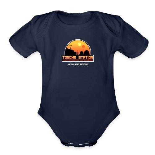 Tosche Station merch - Organic Short Sleeve Baby Bodysuit