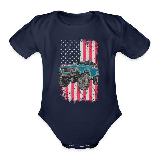 Bronco Drop the Hammer Truck Men's T-Shirt - Organic Short Sleeve Baby Bodysuit